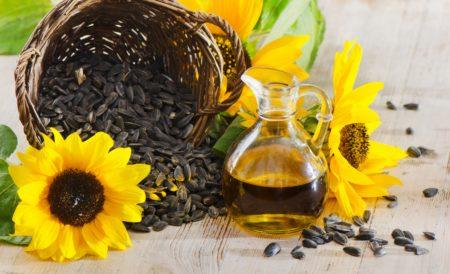 Shampoo bar with sunflower oil